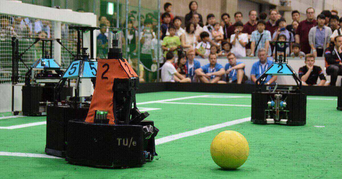 tech united in actie tijdens de robocup