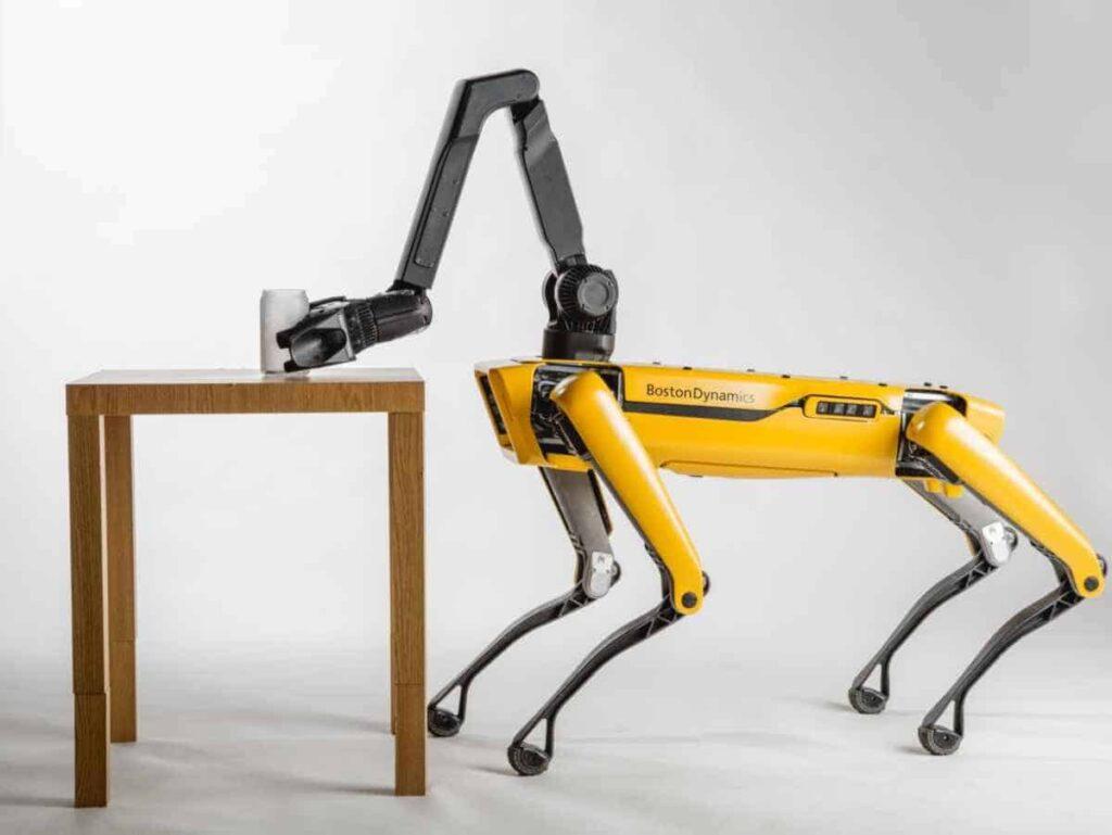 SpotMini Robots trekken vrachtwagen