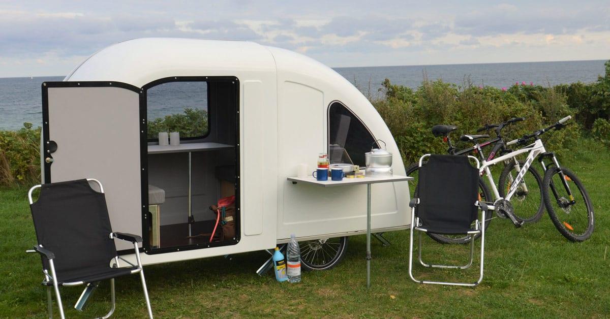Wide path camper caravan fiets vakantie