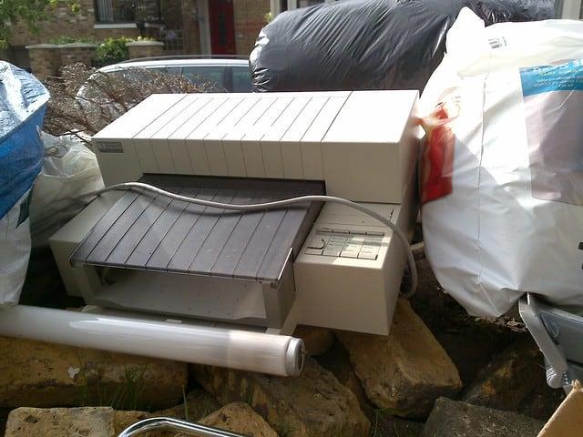 Printer grof vuild weggooien inkt