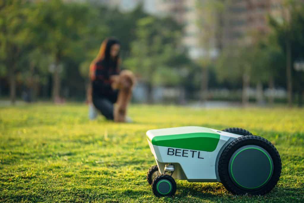 Beetl hondenpoep hond poep opmruimen robot