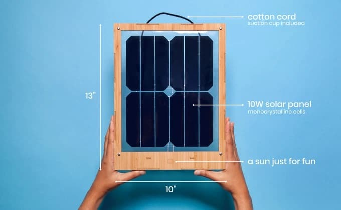 Window solar charger mobiel duurzaam opladen data