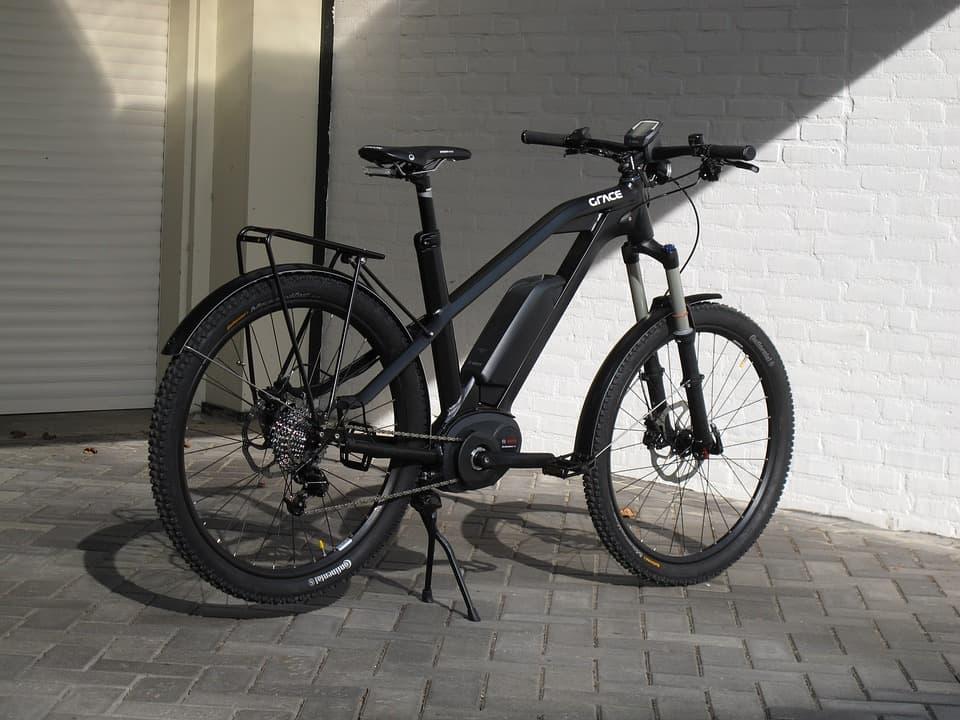 e-bike populair elektrische fiets zwart