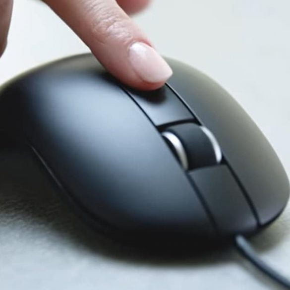 Dell mouse muis vingerafdruk scan feat