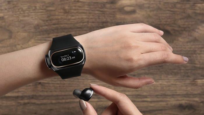 Wearbuds smartwatch opladen oordopjes