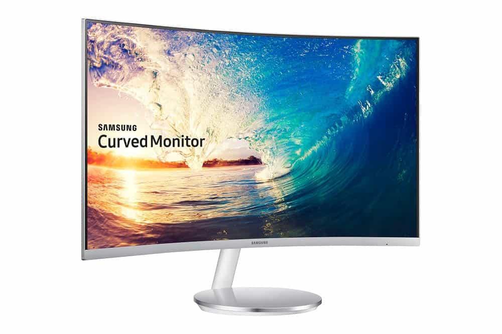 Samsung curved monitor scherm