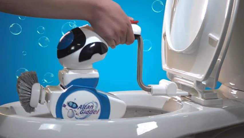 Toilet schoonmaak robot