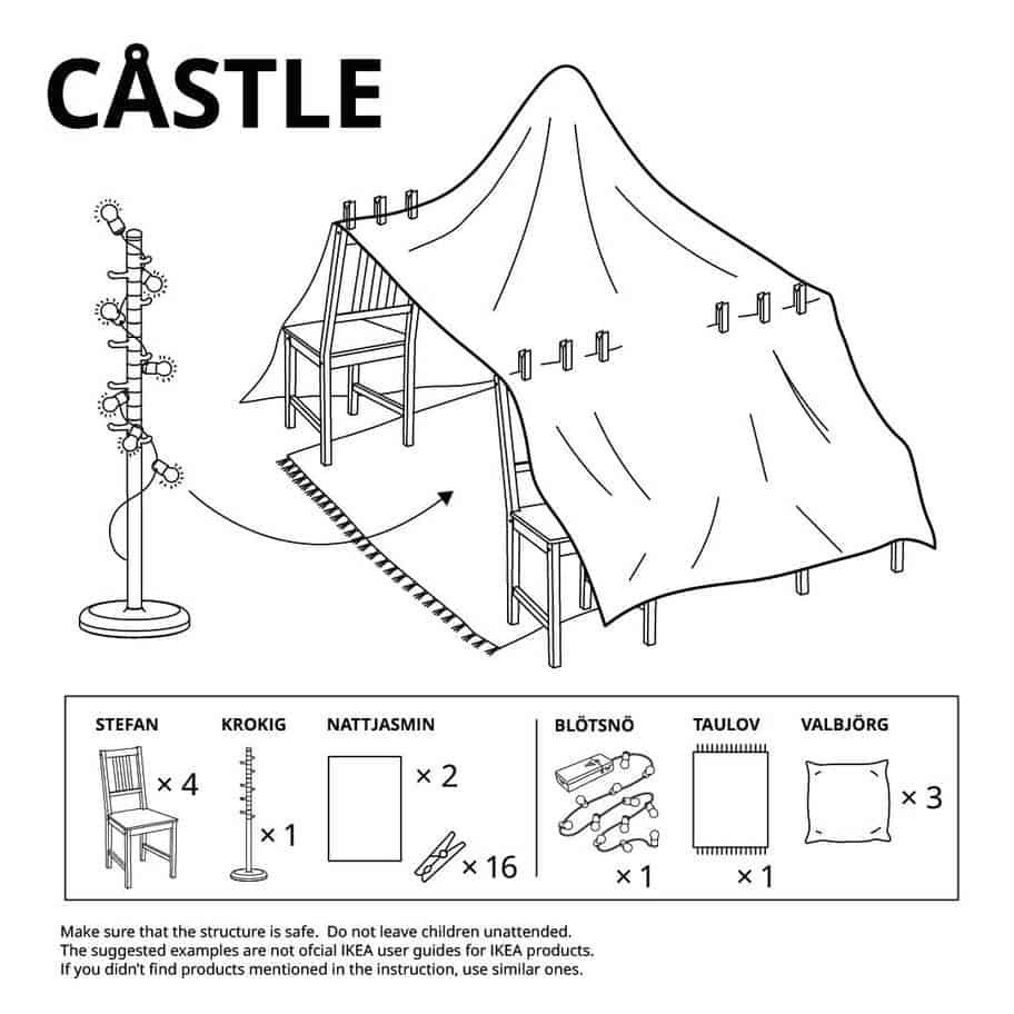 hut bouwen in huis