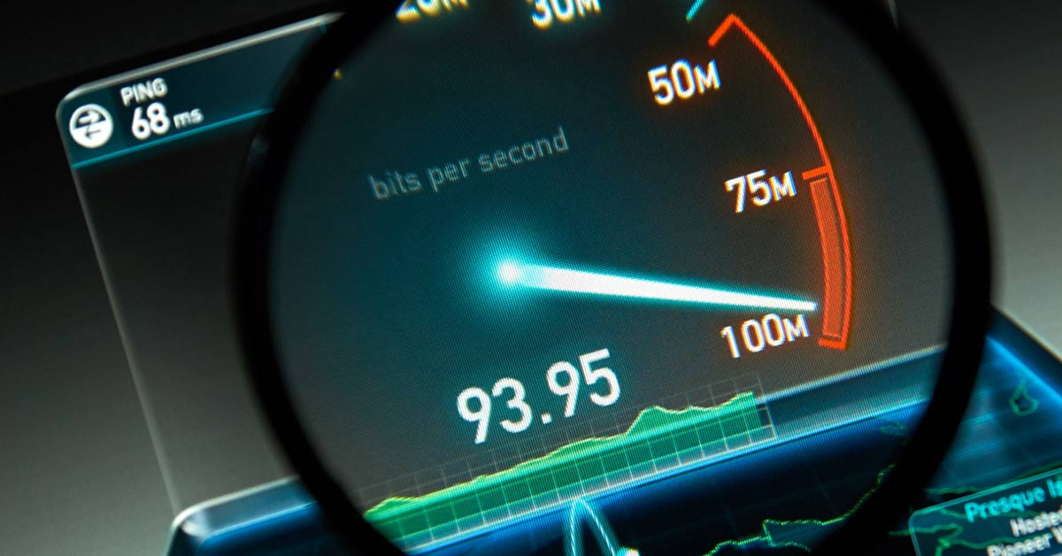 Internet snelheid speedtest meter